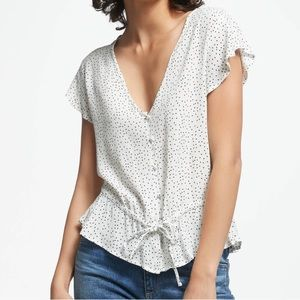 Rails White And Black Hearts Blouse